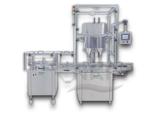 N.K.P. Pharma offers automatic double head auger type dry syrup powder filling machine.