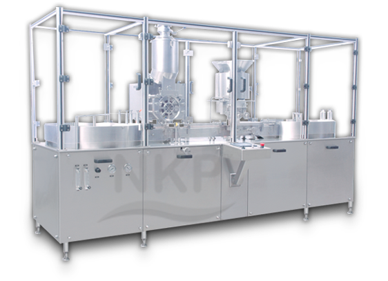 N.K.P Pharma offers Automatic Vial Filling Machine, Injectable Dry Powder Filling With Rubber Stoppering Machine.