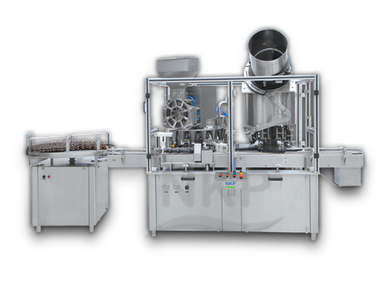 N.K.P. Pharma offers autmoatic monoblock dry syrup powder filling with eight head ropp cap sealing machine.